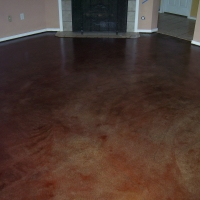 Stained Concrete w gloss sealer