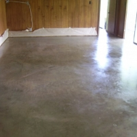 Unstained Concrete w Polished Wax finish