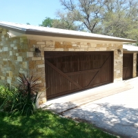 Re-Stain Garage Doors - *After*