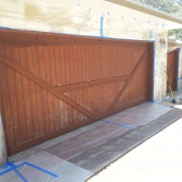 Re-Stain Garage Doors - *Before*