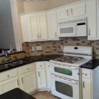 Refinish Oak Cabinets - After