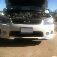 Install LED Daytime Driving Lights and replace headlamp bulbs