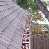 huge gutter cleaning and gutter guard installationproject