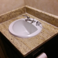 Bathroom countertop and sink